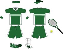 Green and White Tennis Equipment Stock Photography