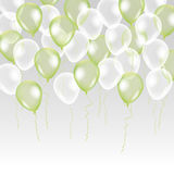 Green white transparent balloon on background. Royalty Free Stock Photography