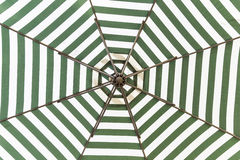 Green and white umbrella Royalty Free Stock Photo