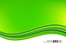 Green and white waves package background Royalty Free Stock Image