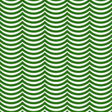 Green and White Wavy Stripes Tile Pattern Repeat Background Royalty Free Stock Photography