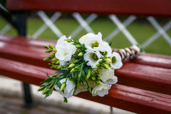 Green and white wedding bouquet. Of flowers Stock Photography