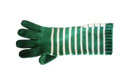 Green & White Womans Winter Glove Royalty Free Stock Image