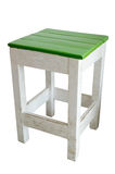 Green and white wood chair Stock Photo