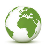 Green and White World Globe Earth 3d Stock Photos