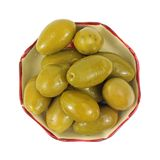 Green Whole Olives Overhead View Royalty Free Stock Photography
