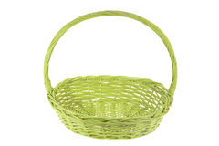 Green Wicker Basket Royalty Free Stock Images