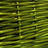 Green wicker texture stock photos