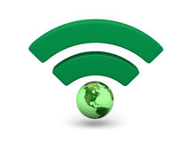 Green WiFi symbol Stock Images
