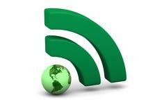 Green WiFi symbol Royalty Free Stock Photo
