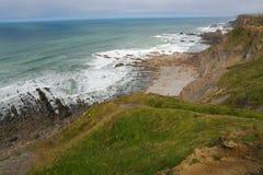 Green wild cornish sea Stock Image