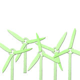 Green wind generator tissue papercraft Royalty Free Stock Images