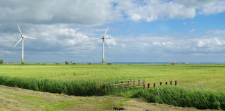 Green windmills Royalty Free Stock Images