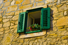 Green window Royalty Free Stock Image