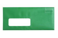 Green Window Envelope Stock Images