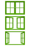 Green window frame Royalty Free Stock Images