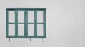 Green Window on gray walls Stock Photography