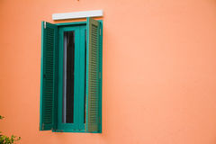 Green window is open. Stock Photography