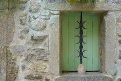 Green window shutter Stock Image