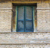 Green window shutters Stock Photography
