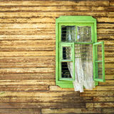 Green window Stock Photography