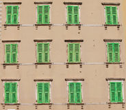 Green windows Stock Photo