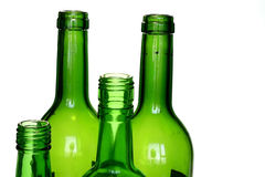 Green Wine Bottle Royalty Free Stock Images