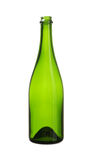 Green Wine Bottle  white background clipping paths Royalty Free Stock Images