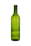 Green Wine Bottle  white background clipping paths Stock Photos
