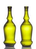 Green wine bottles Stock Photography