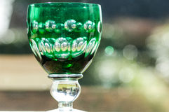 Green wine glass Stock Photo