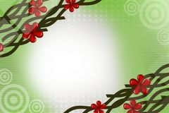 Green wine with red flower, abstract background Royalty Free Stock Photo