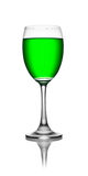 Green in wineglass Stock Image
