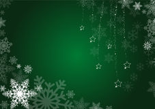 Green winter background Royalty Free Stock Images