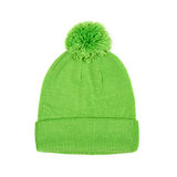 Green winter cap isolated on white background Royalty Free Stock Photography