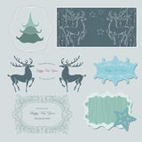 Green winter. And delicate frames royalty free illustration
