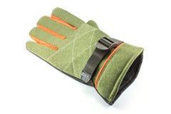 Green winter glove on white Royalty Free Stock Photos