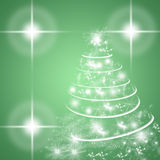 Green winter holidays greeting card with Christmas tree Royalty Free Stock Images
