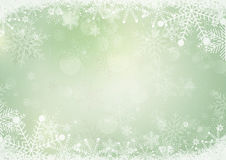Green winter snow holiday paper background Stock Image