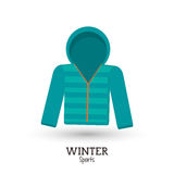 Green winter sport jacket clothes Royalty Free Stock Photography