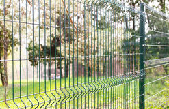 Green wire fence Royalty Free Stock Photos