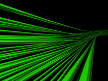 Green wires. 3d abstract green wires on black Royalty Free Stock Images