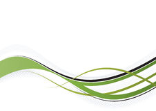 Green wisp. Illustration of a delicate green wisp on white background Royalty Free Stock Images