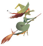Green witch Royalty Free Stock Images