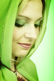 Green woman. royalty free stock photos