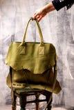 Green woman handbag Stock Images