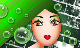 Green Woman Royalty Free Stock Photos