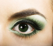 Green womanish eye Stock Photography