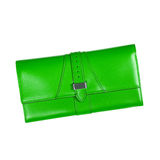 Green women clutch isolated on a white background Stock Image