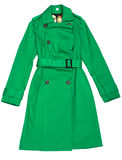 Green Women's raincoat Stock Photo